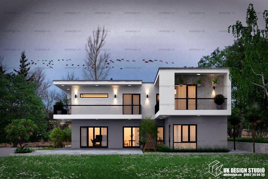 Biệt thự hiện đại 10x20m trên khung cảnh đồng quê