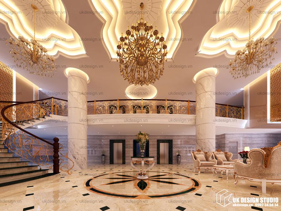 Thiết kế nội thất sảnh khách sạn 4 sao ORBIT