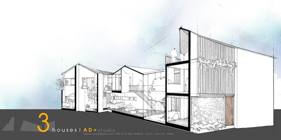 3 HOUSES – Tìm kiếm không gian sống chan hoà với thiên nhiên