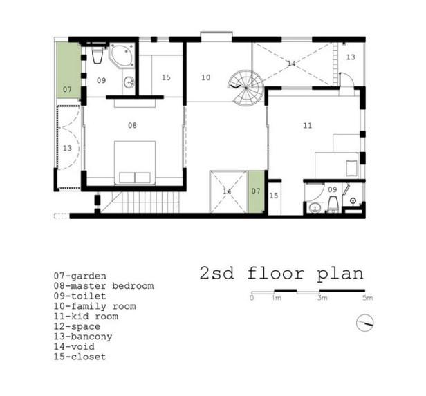 Bố trí mặt bằng tầng 2 - h2