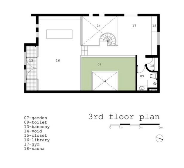 Bố trí mặt bằng tầng 3 - h2