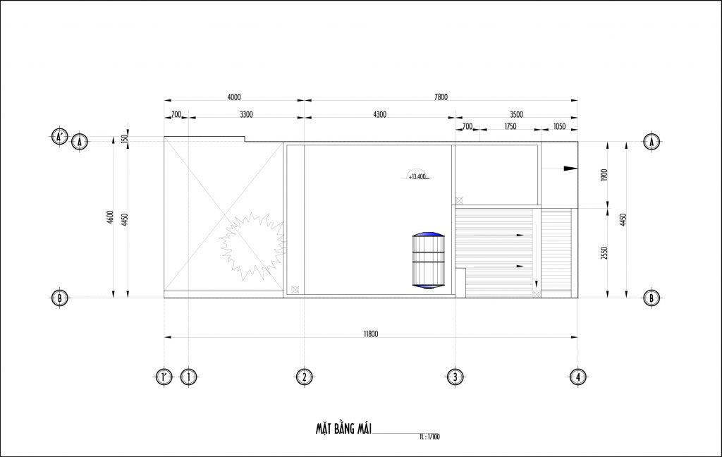 Bố trí mặt bằng nhà phố 50m2-6