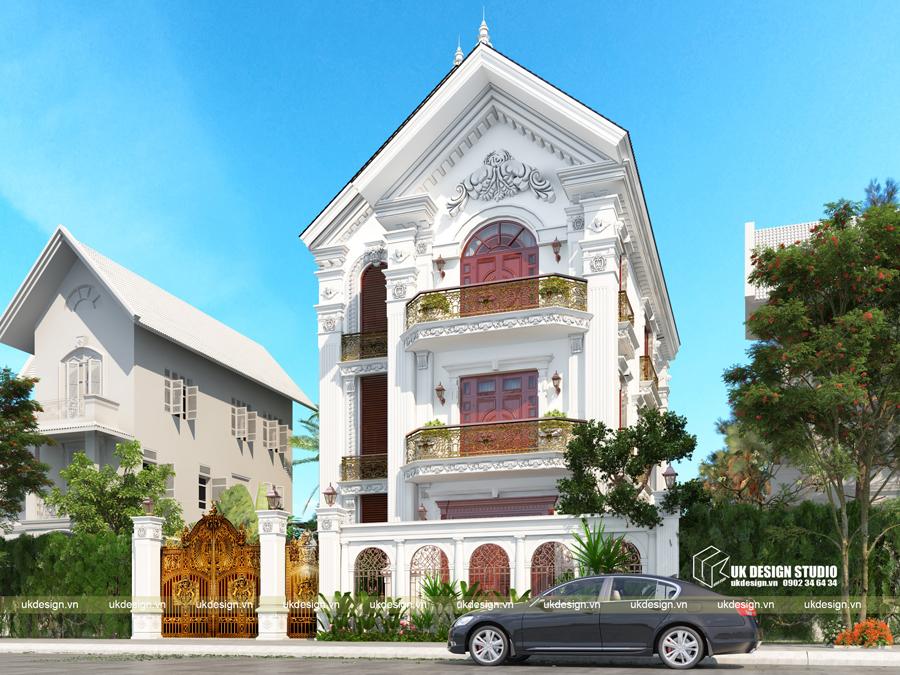 Thiết kế biệt thự cổ điển 15x20m2 3
