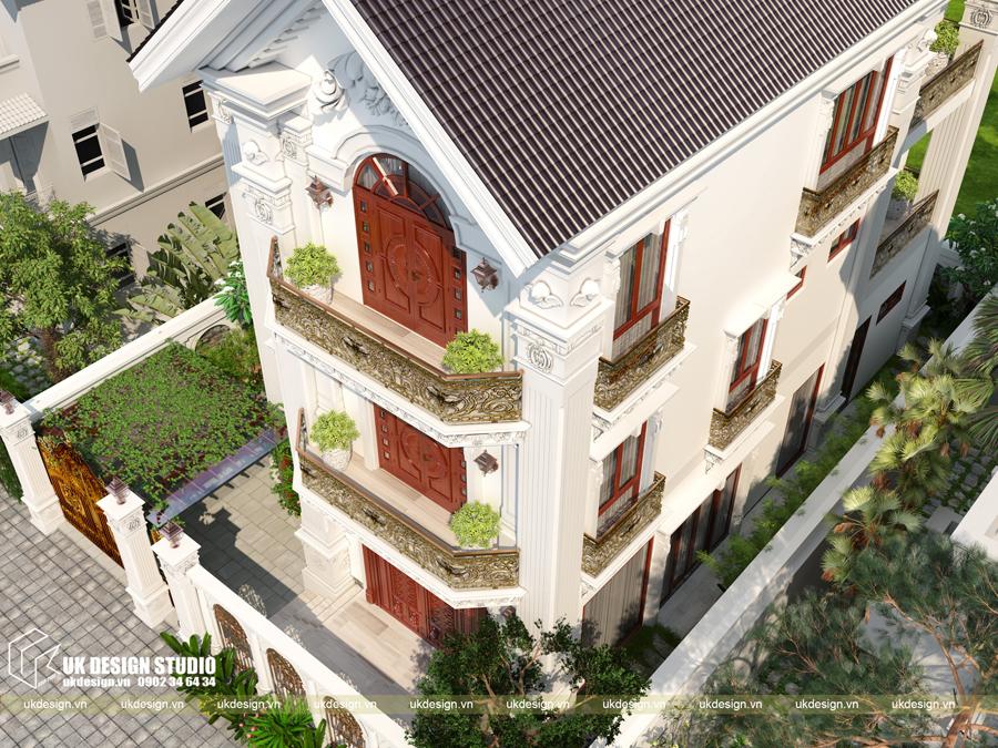 Thiết kế biệt thự cổ điển 15x20m2 5