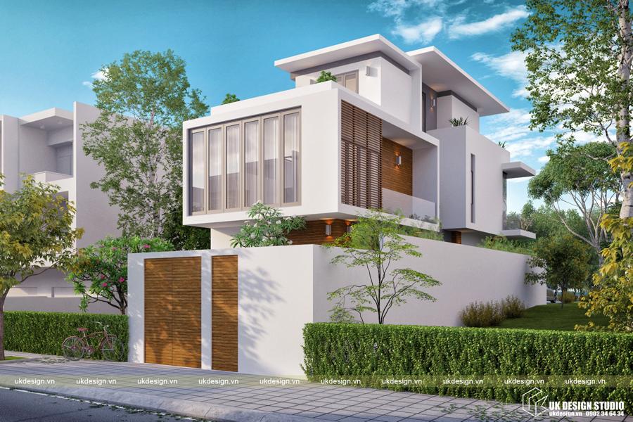 Thiết kế biệt thự hiện đại 3 tầng ở Sài Gòn