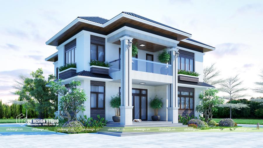 Biệt thự mái Thái 2 tầng 2