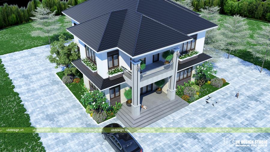 Biệt thự mái Thái 2 tầng 6
