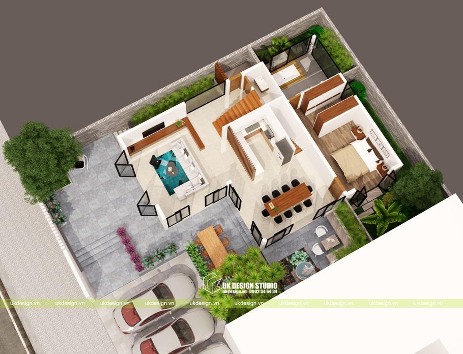 Thiết kế biệt thự hiện đại 3 tầng 10x20m