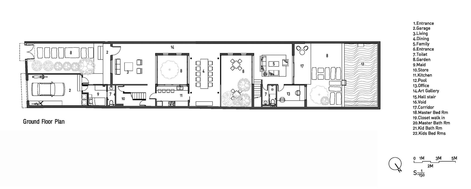Mặt bằng - Modern Tube House - 1