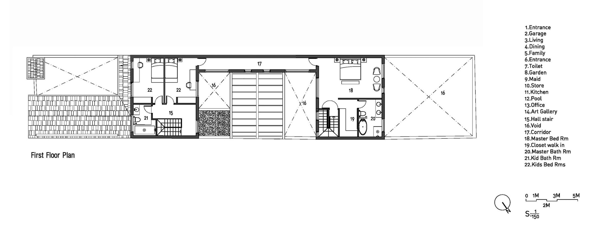 Mặt bằng - Modern Tube House - 2