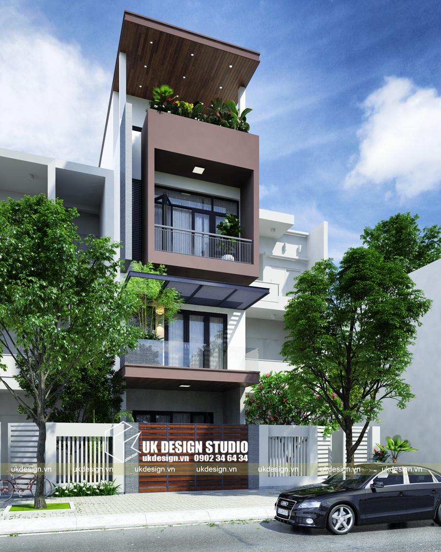 Thiết kế nhà phố hiện đại liền kề mặt tiền 4,5m