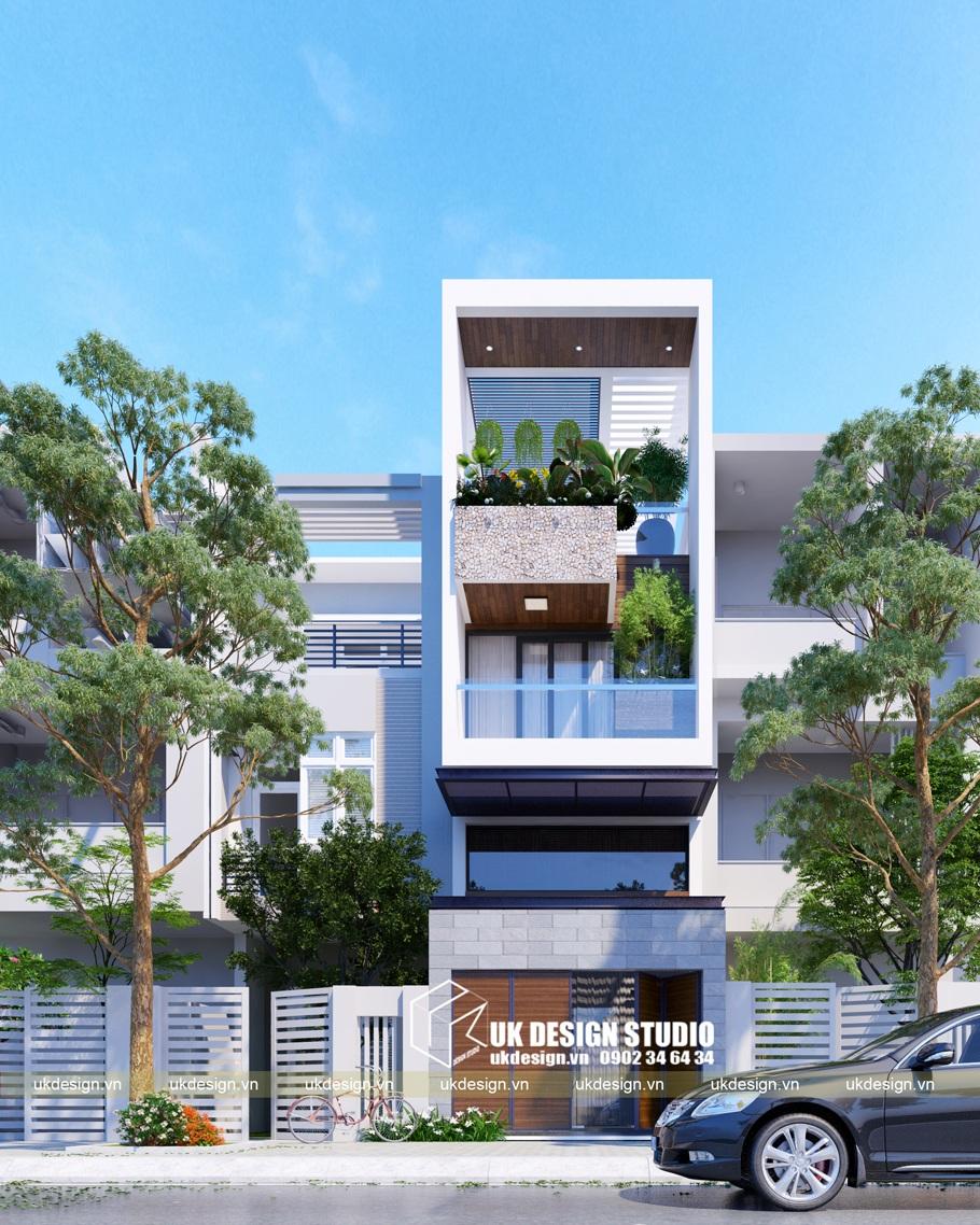 Thiết kế nhà phố hiện đại 3 tầng 4x20m