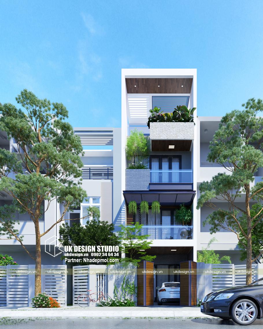 Thiết kế nhà phố hiện đại mặt tiền 4,5m