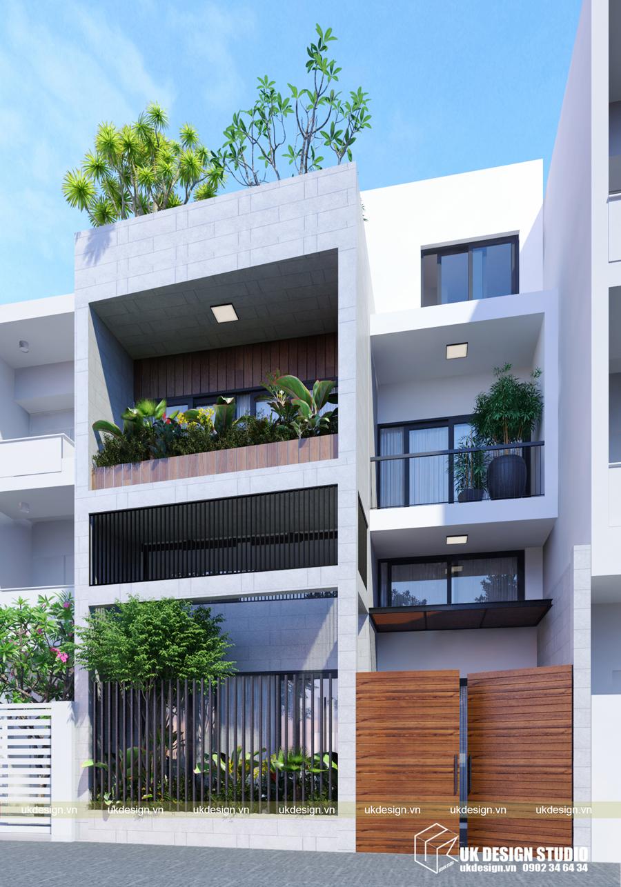 Thiết kế nhà phố 4 tầng 1