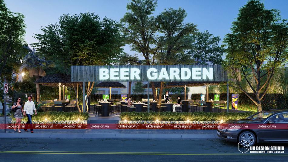 Thiet ke nha hang san vuon - Beer Garde