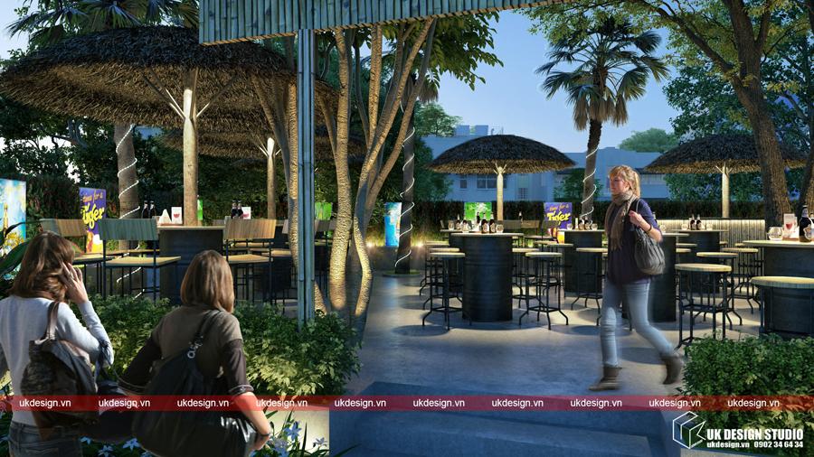 Thiết kế nhà hàng sân vườn - Beer Garden_02