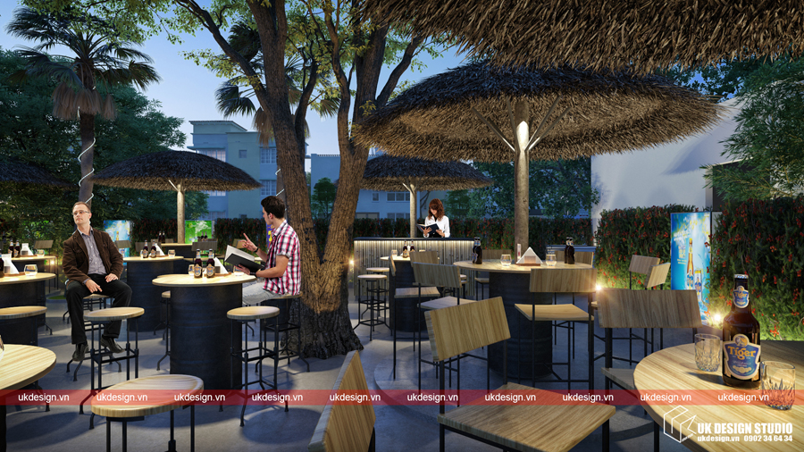 Thiết kế nhà hàng sân vườn - Beer Garden_03