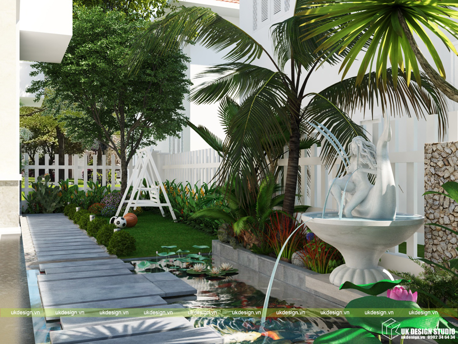 biệt thự sân vườn hiện đại 9
