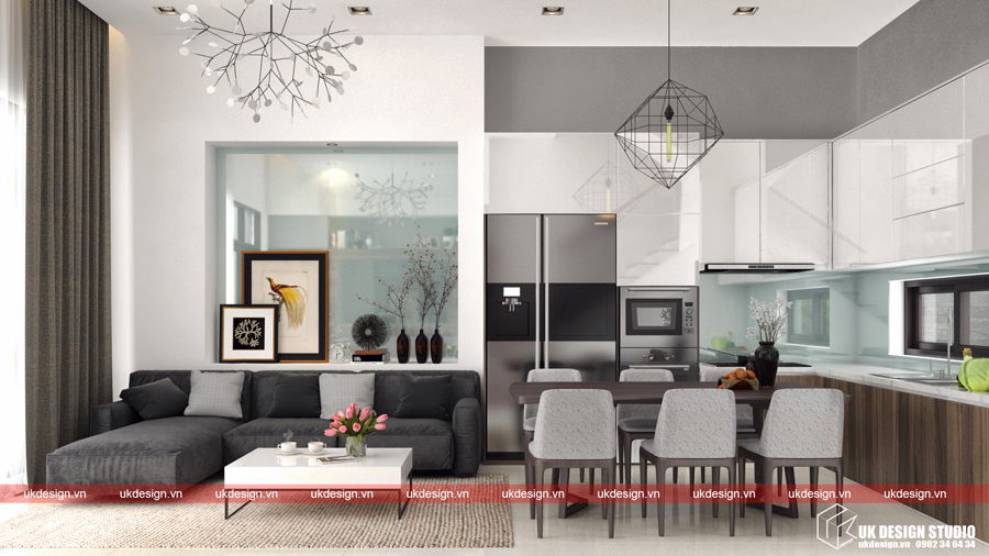 Thiết kế nội thất nhà phố 65m2-2