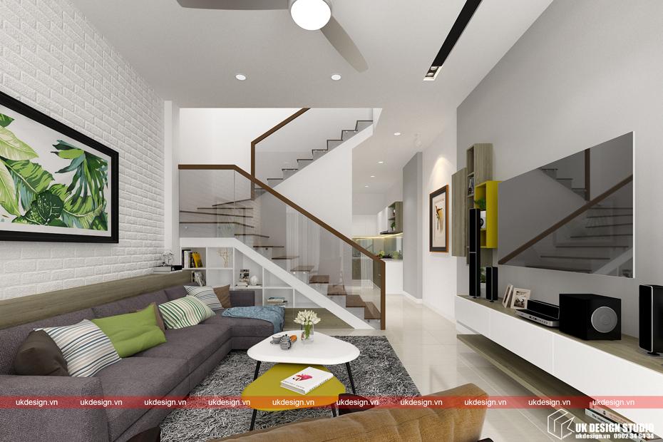 Thiết kế nội thất nhà phố 5x20m – ở Sài Gòn