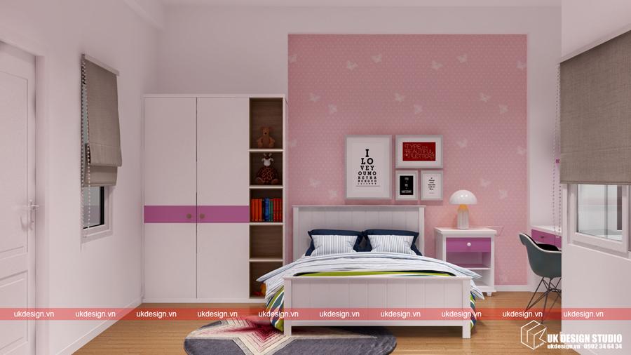 Thiết kế nội thất nhà phố hiện đại- tre con 1a