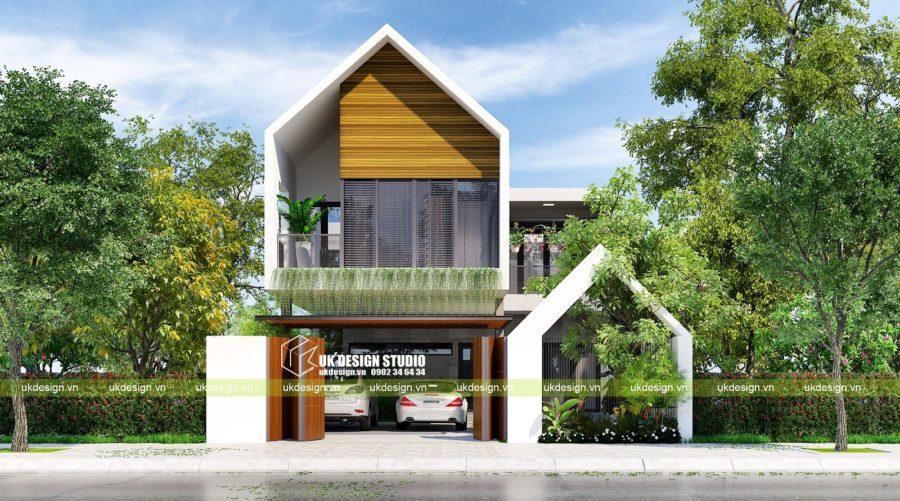 Thiết kế biệt thự hiện đại 2 tầng 10x20m