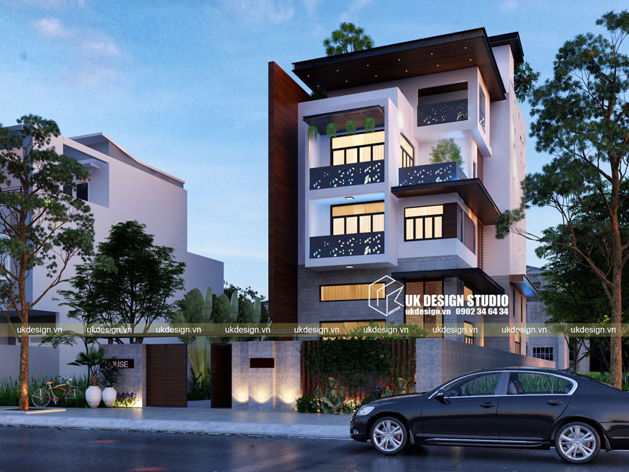 Thiết kế biệt thự phố hiện đại 10x25m