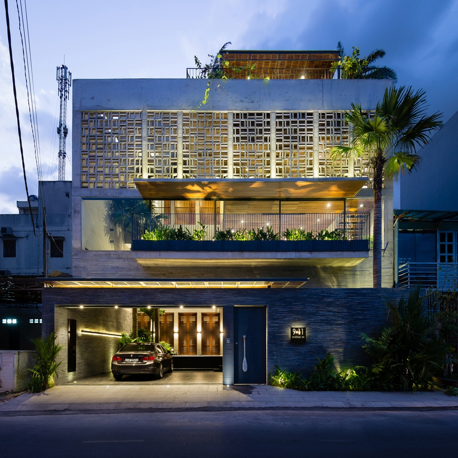 H House – Ngôi biệt thự hiện đại lấy cảm hứng từ kiến trúc truyền thống Việt Nam