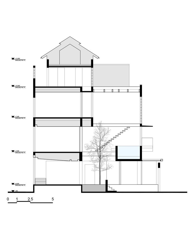 Nhà đẹp Sài Gòn -H house-  SECTION_a-a
