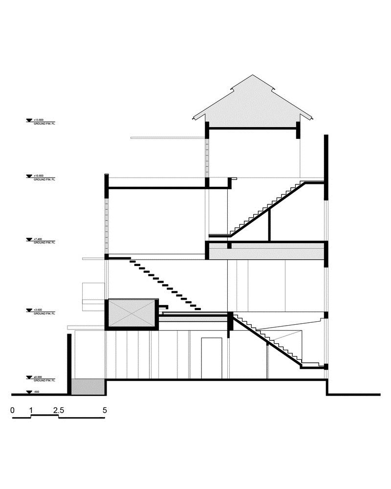 Nhà đẹp Sài Gòn -H house-  SECTION_b-b