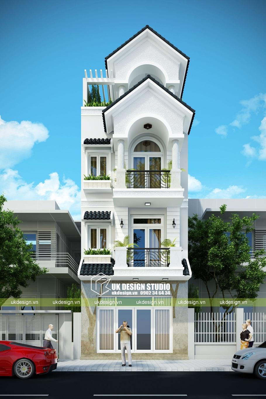 Thiết kế nhà phố cổ điển 5x20m
