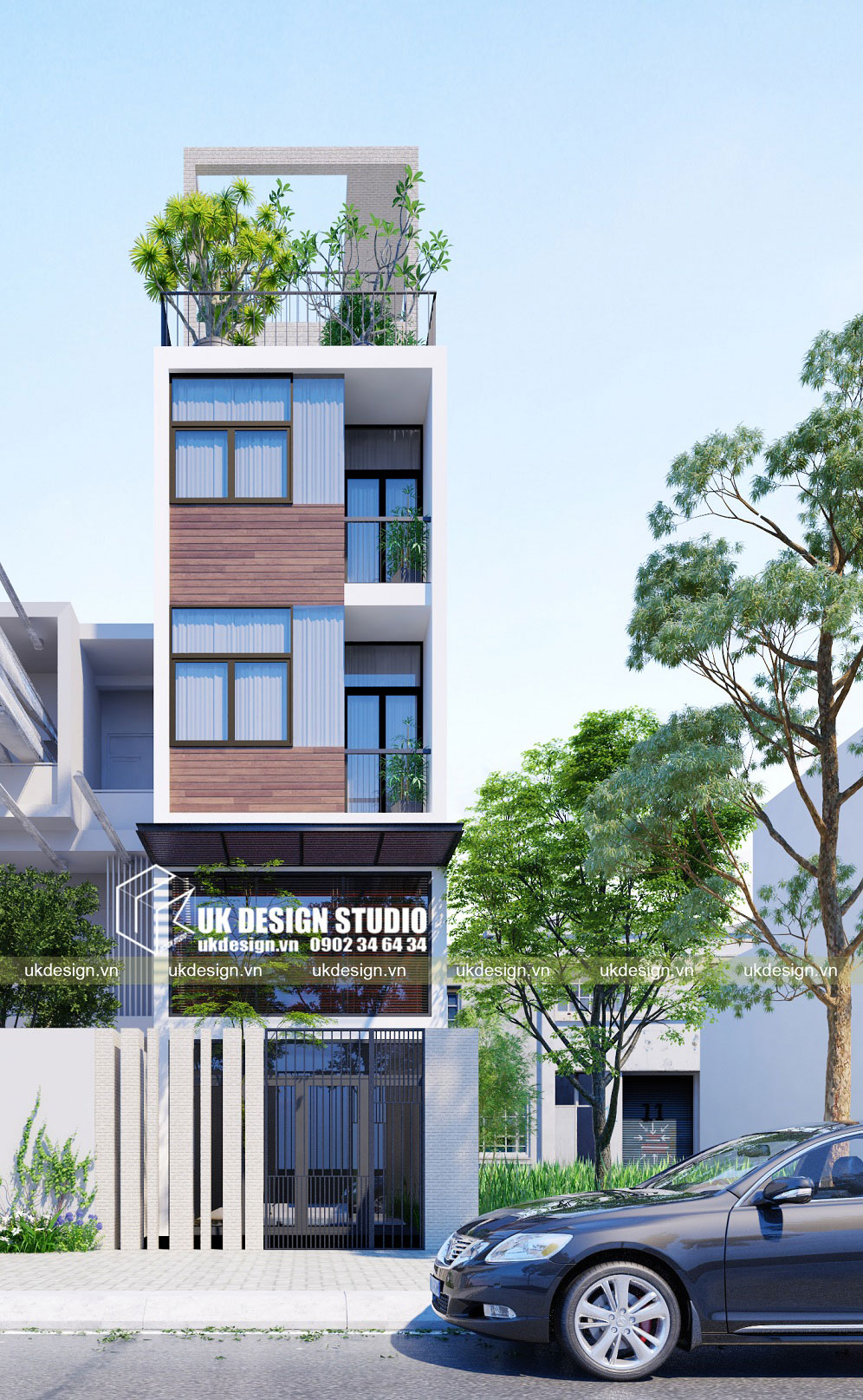 Thiết kế nhà phố liền kề 4m hiện đại b