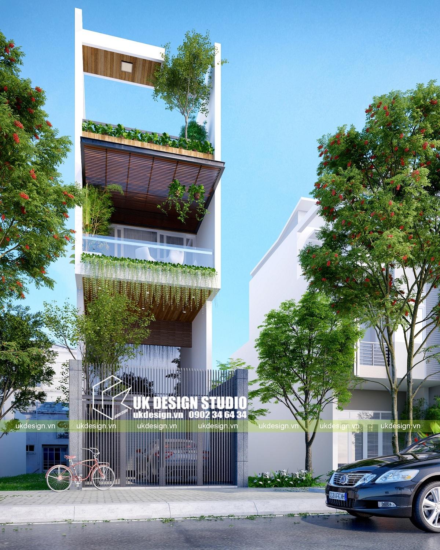 Nhà phố hiện đại 3 tầng 4,5x20m - 1