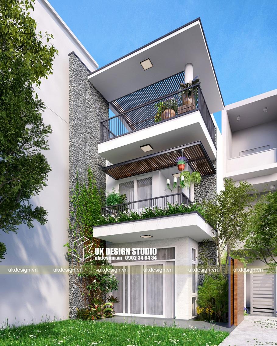 Thiết kế nhà phố hiện đại 5x15m