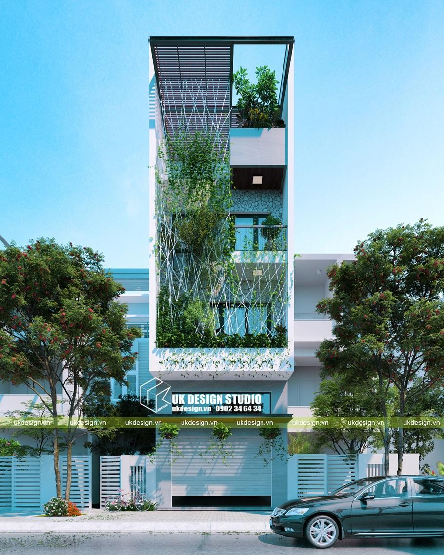Thiết kế nhà phố hiện đại mặt tiền 5m