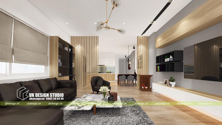 Thiết kế nội thất nhà phố hiện đại – kết hợp văn phòng kinh doanh