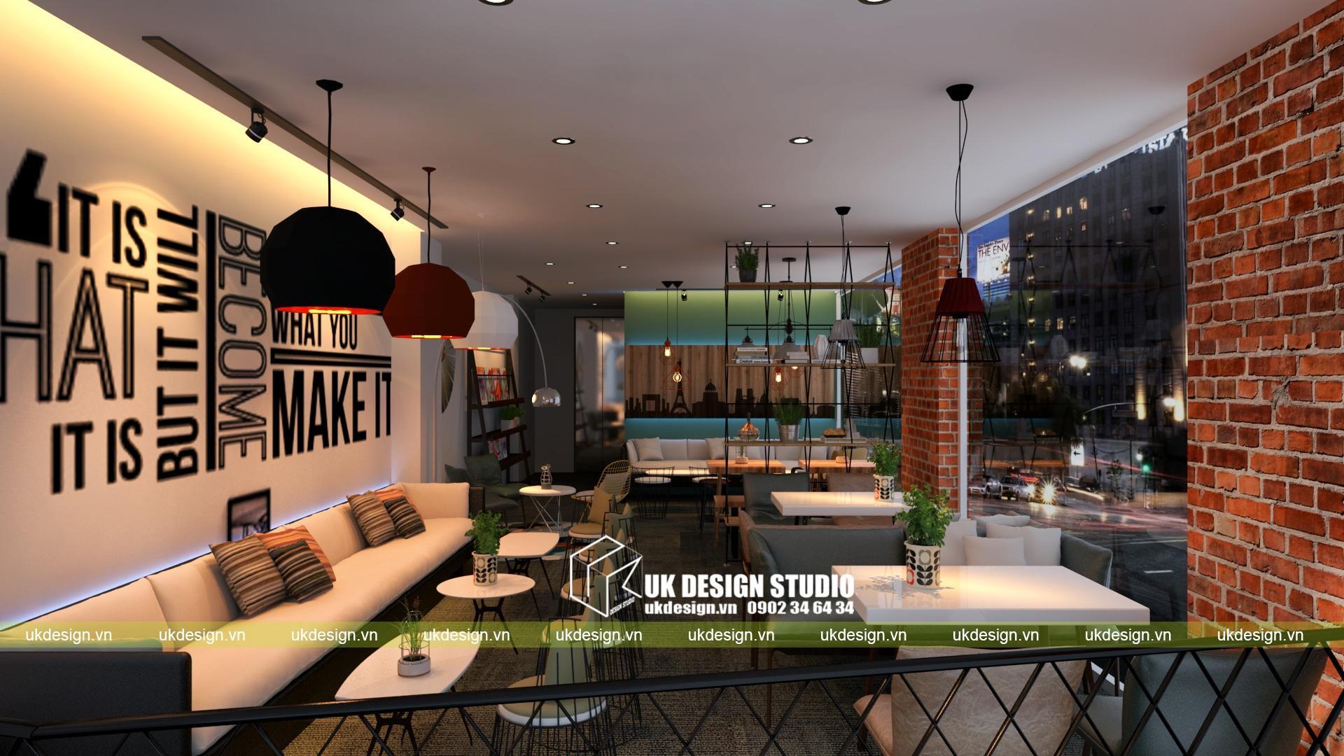 Thiết kế quán cafe và trà sữa No Name - c