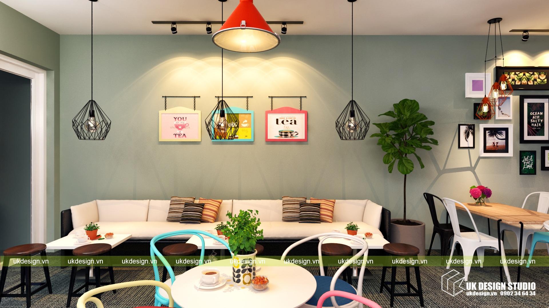 Thiết kế quán cafe và trà sữa No Name - j