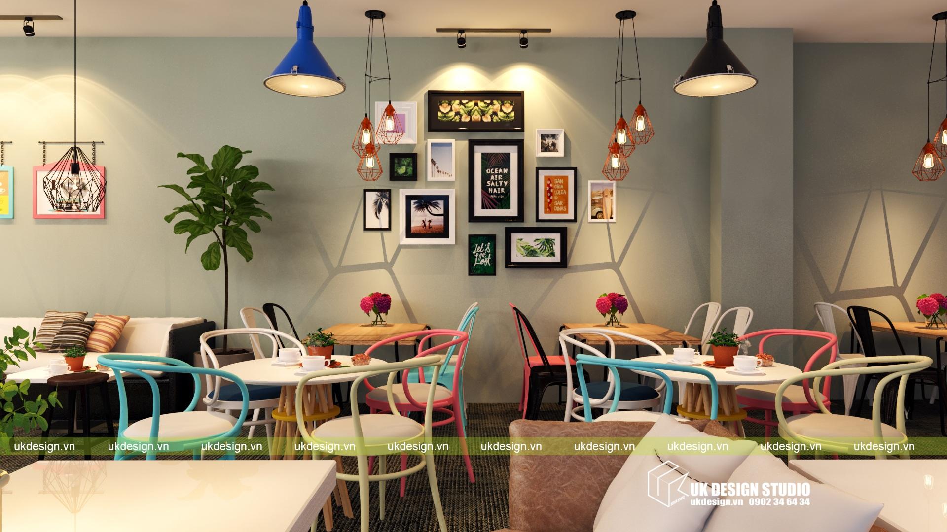Thiết kế quán cafe và trà sữa No Name - k