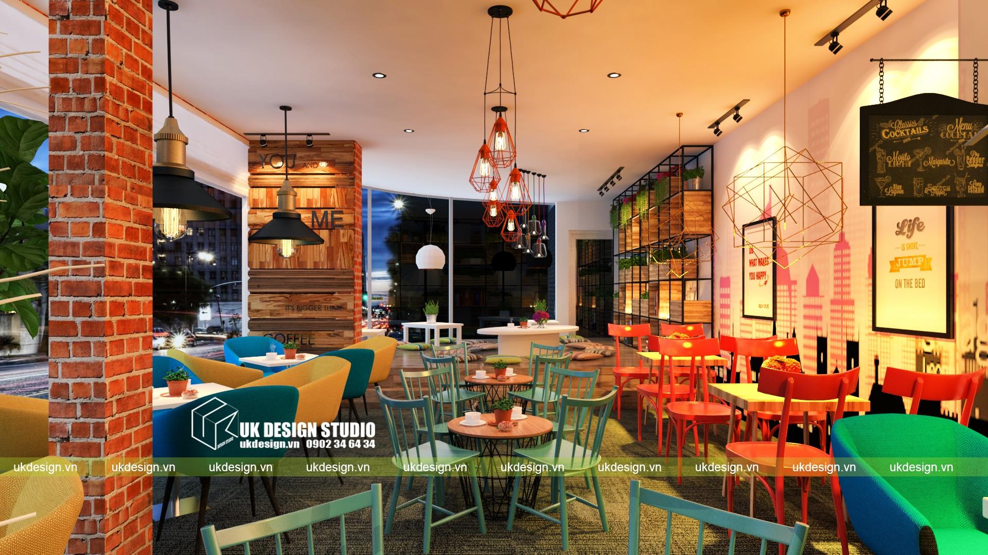 Thiết kế quán cafe và trà sữa No Name - v