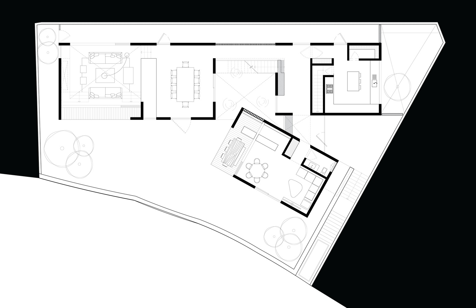 Mặt bằng biệt thự 900m2- s house - 3