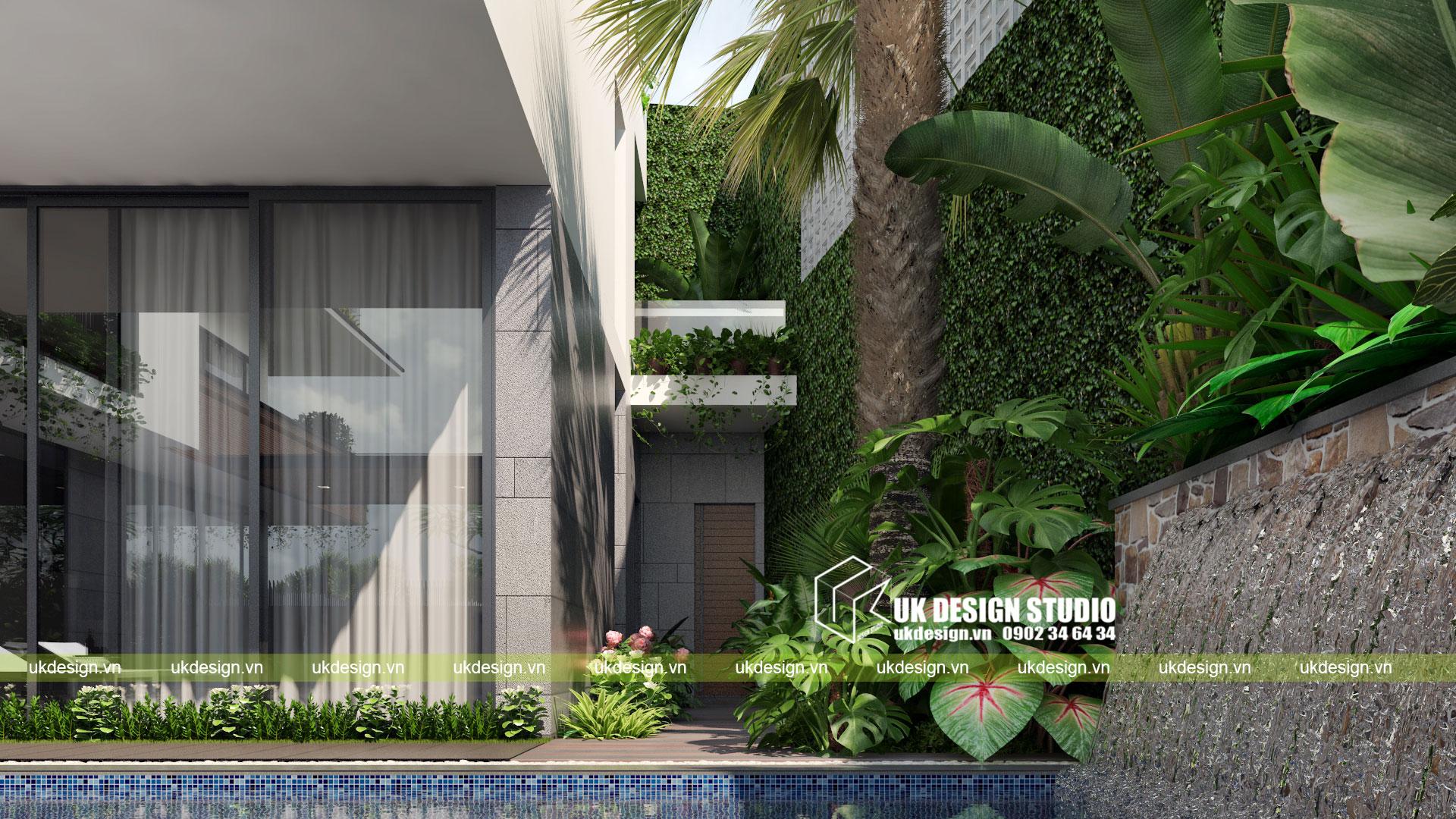 Thiết kế biệt thự vườn có hồ bơi ở Sài Gòn - 11