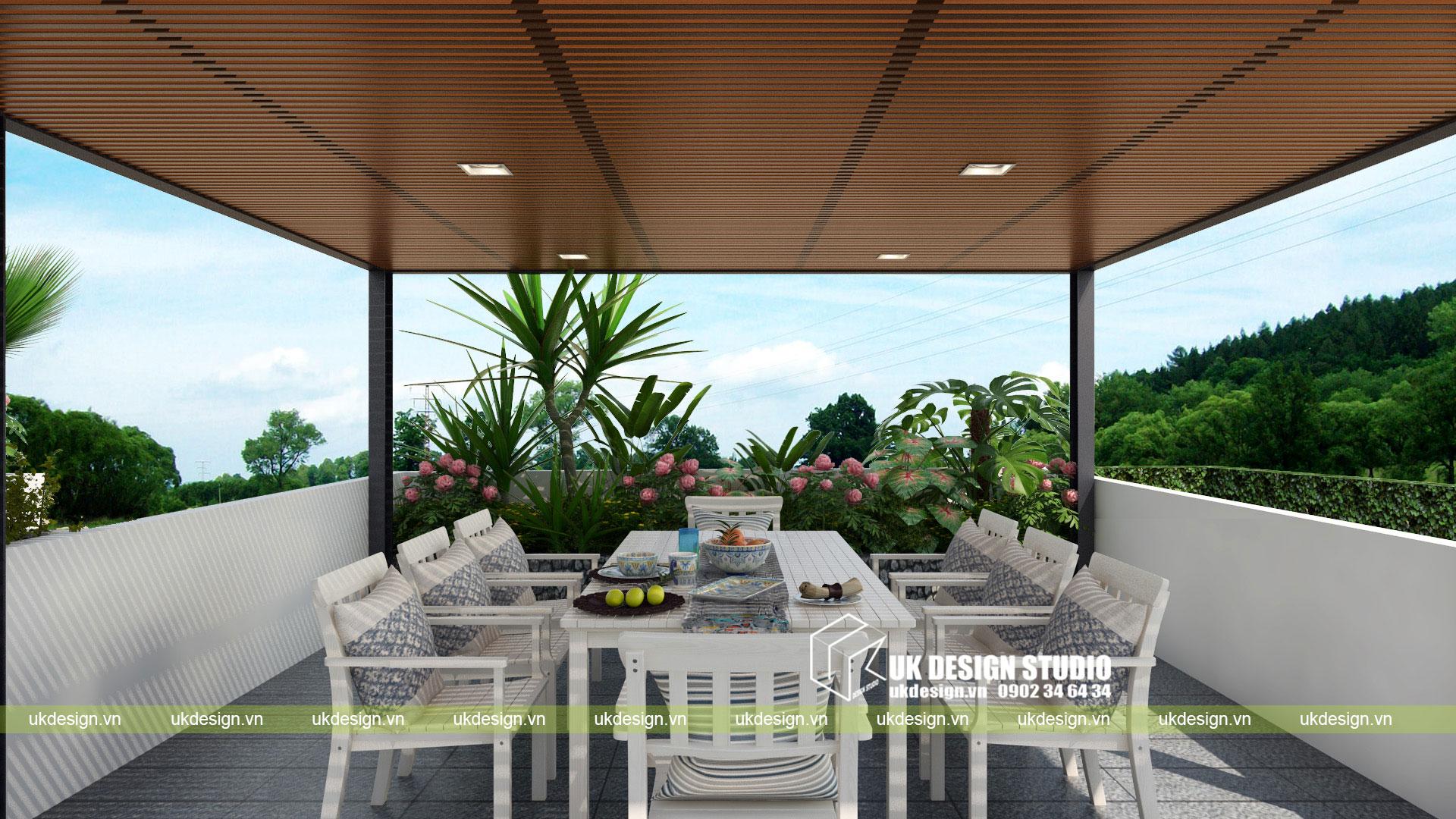 Thiết kế biệt thự vườn có hồ bơi ở Sài Gòn - 13