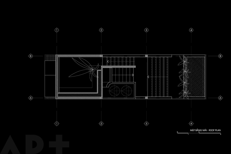 Bố trí mặt bằng lầu 3 - Backyard House