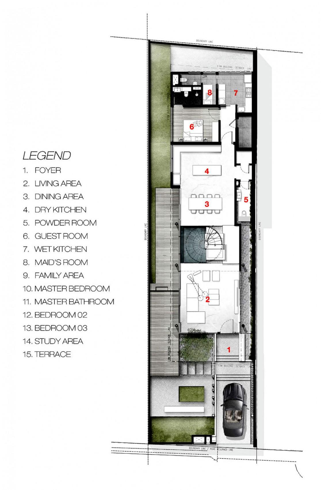 Bố trí mặt bằng - greja house - tầng 1