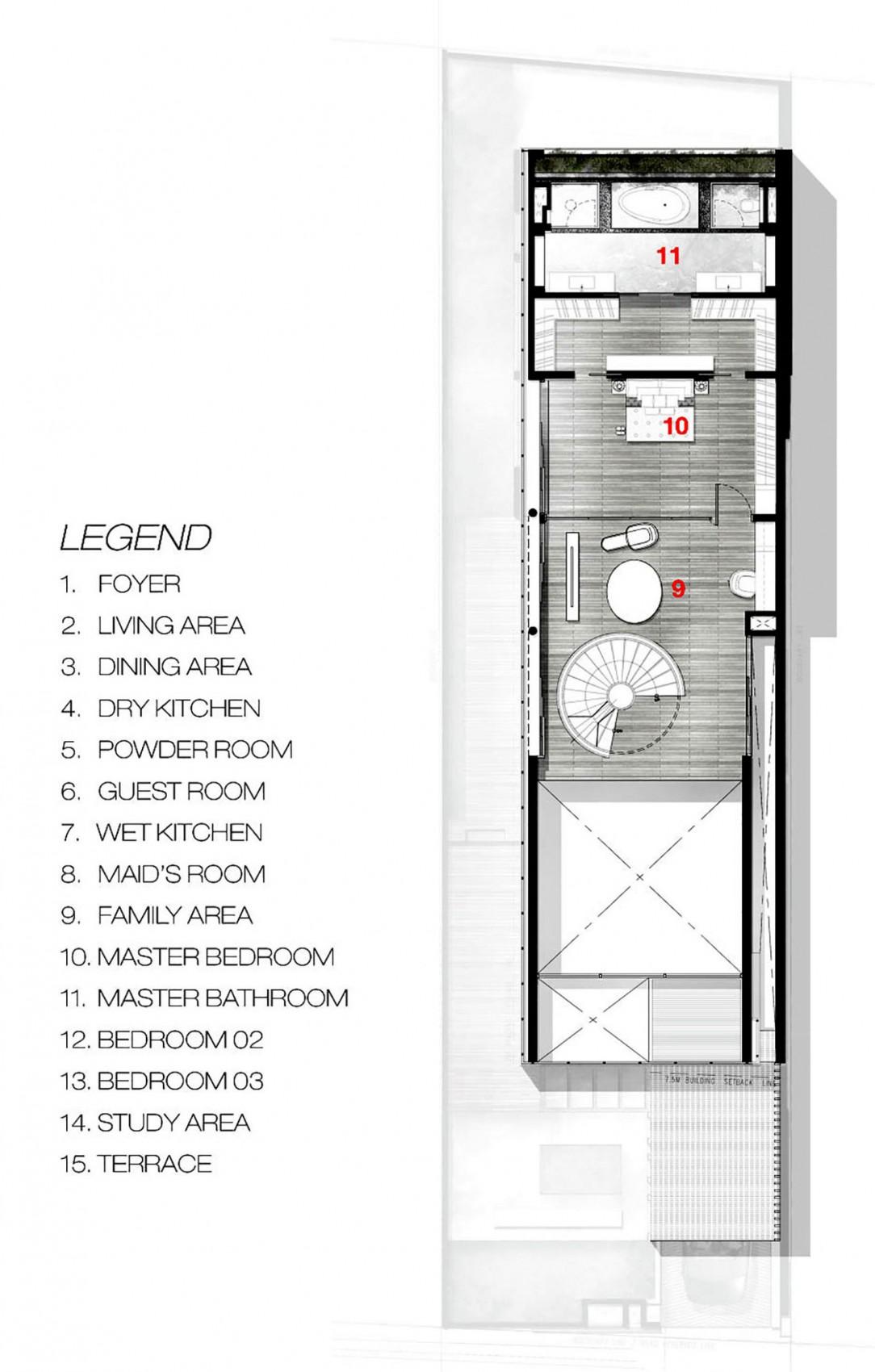 Bố trí mặt bằng - greja house - tầng 2