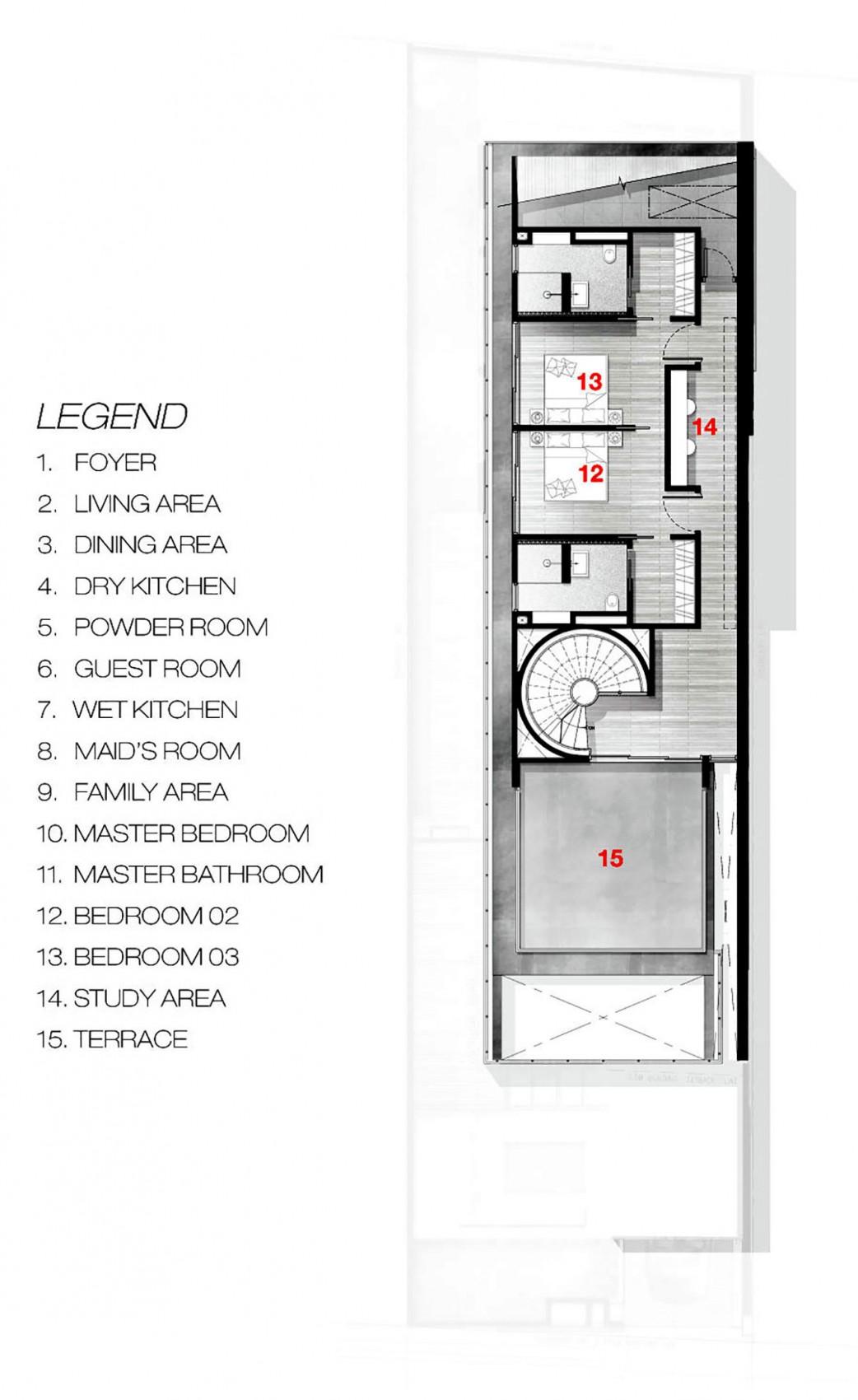 Bố trí mặt bằng - greja house - tầng 3