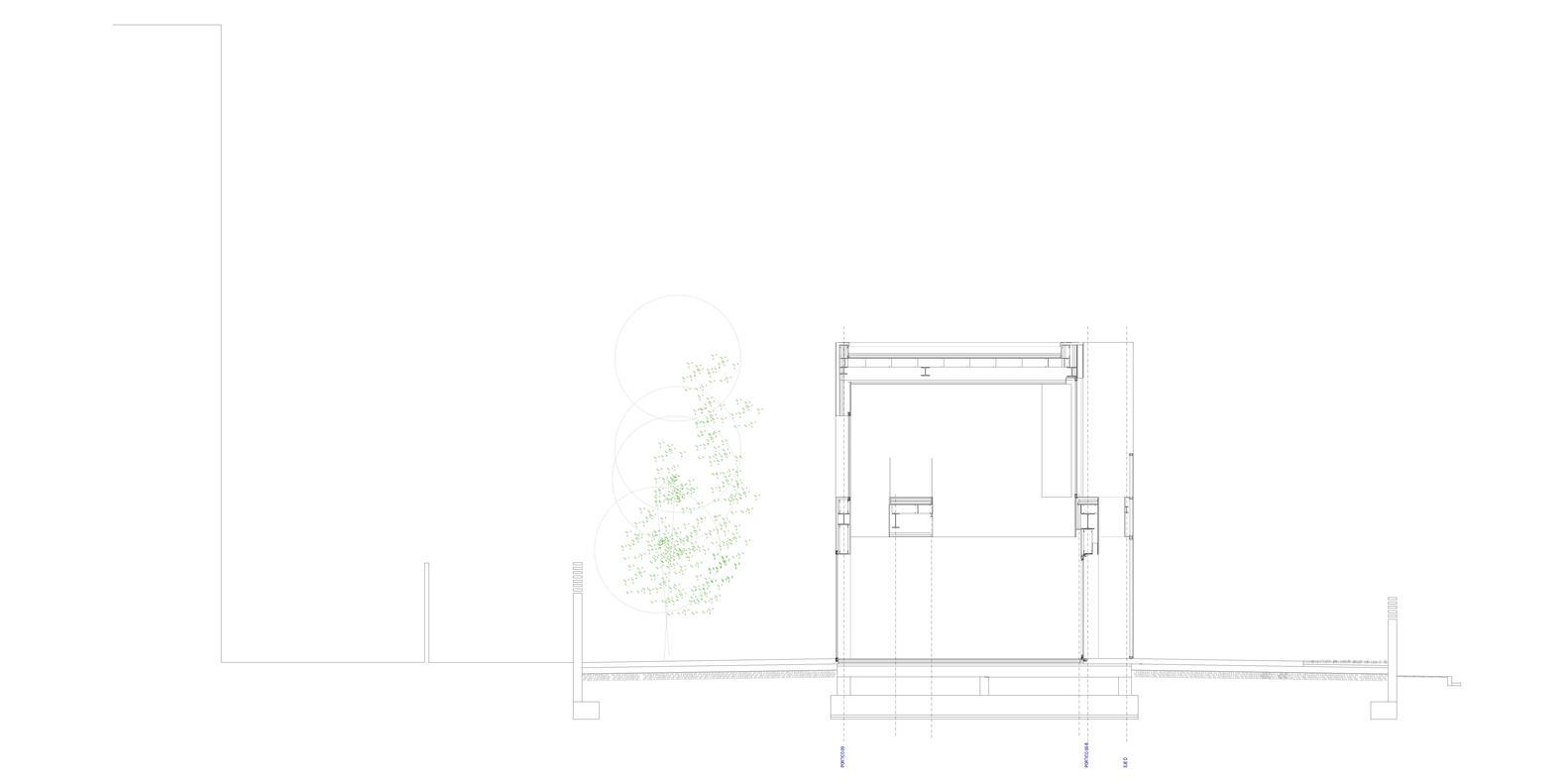Bố trí mặt bằng - Castelldefels House - mặt cắt - 2