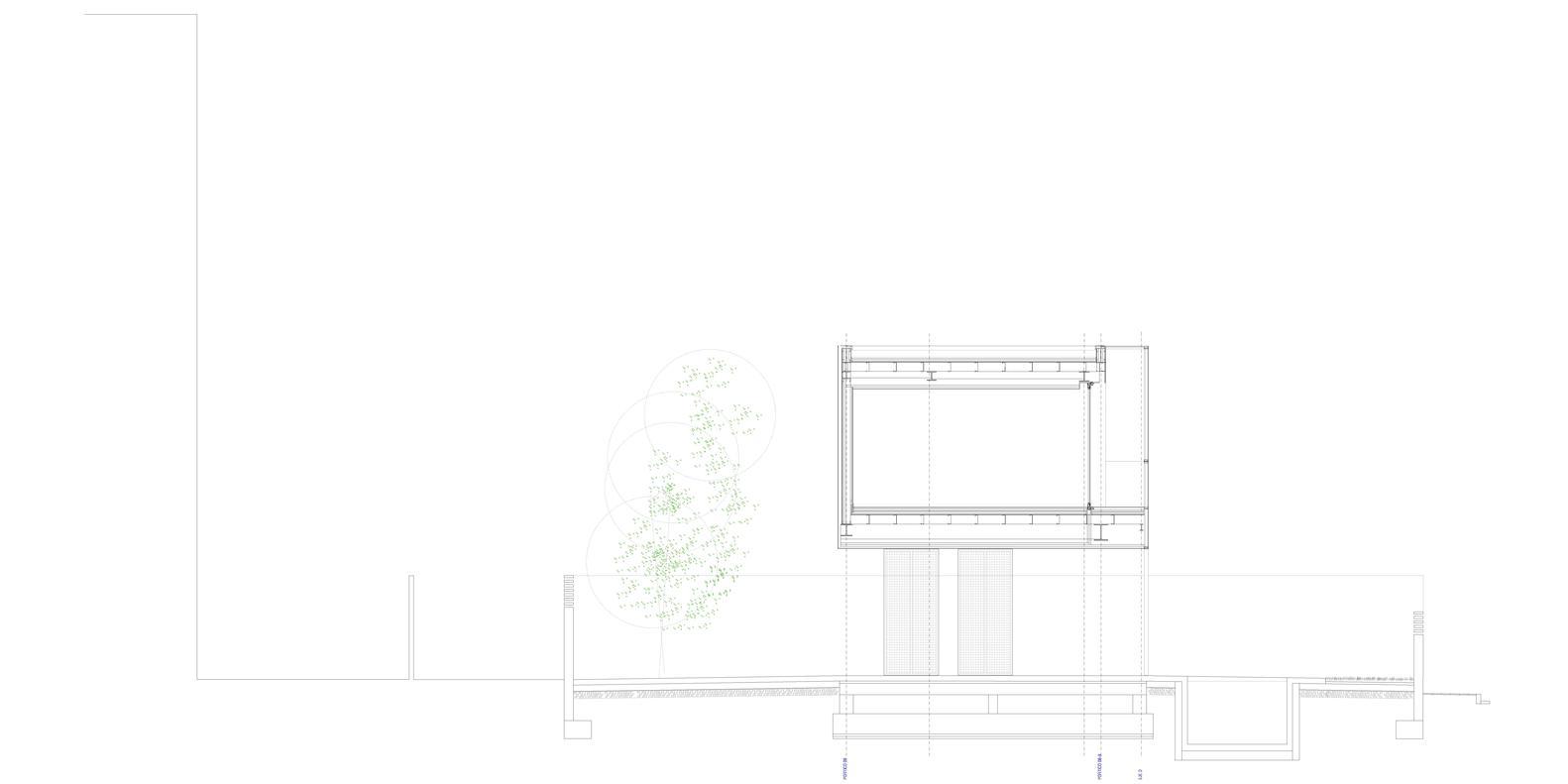 Bố trí mặt bằng - Castelldefels House - mặt cắt - 4