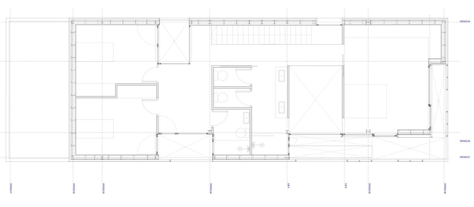 Bố trí mặt bằng lầu 1 - Castelldefels House